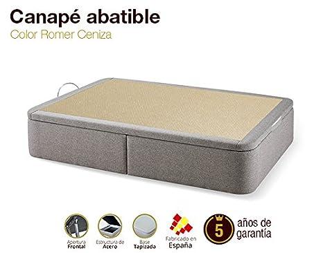 Canapé Abatible Tapizado Romer Ceniza 80x190cm Envio y montaje gratis: Amazon.es: Hogar
