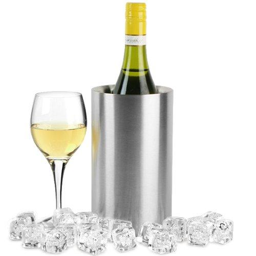 bar@drinkstuff Stainless Steel Double Walled Wine Cooler 1.6ltr Wine Chiller, Wine Bucket, Champagne Cooler