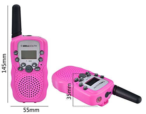 BELLSOUTH T388 2 Piece T-388 3-5KM 22 FRS and GMRS UHF Radio for Child Walkie-Talkie by BellSouth (Image #3)