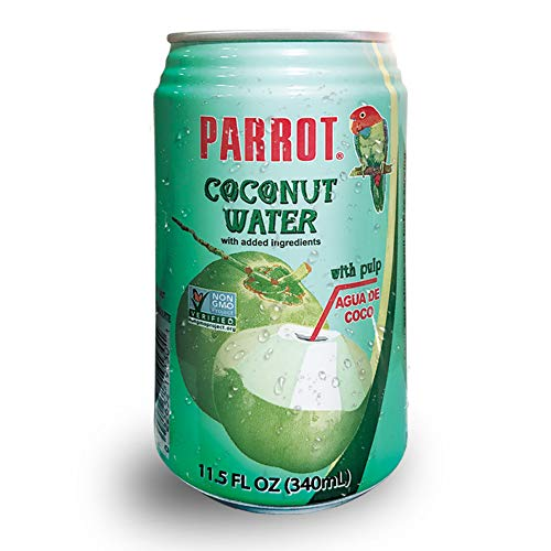 Parrot Brand Coconut Water with Pulp 11.5 fl. oz.(Pack of 24)