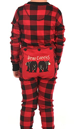 Lazy One Cotton Knit (LazyOne Kid's Flapjack Onesies - Decorative Trapdoor (6, Bear Cheeks))