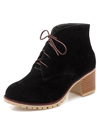 femme Eu39 upblack gris jaune us8 Talon Bottes Lace Chunky hiver 5 Robe Mode Bottes Almond chaussons Cn40 Automne rose Xzz vert 5 Chaussures Uk6 Rqa7Rd