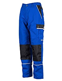 TMG Heavy Duty Cargo Work Trousers with Knee Pads Pockets 54 Blue