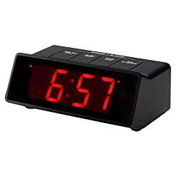 Kwanwa Battery Operated / Powered Only 110 db Extra Loud Alarm Clock For Heavy Sleepers with Big 1.2'' Red LED Time Display