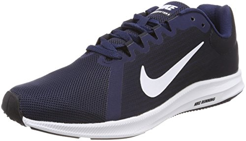 Nike Herren Downshifter 8 Chaussures De Sport, Blau (marine Minuit / Blanc-noir Obsid 400)