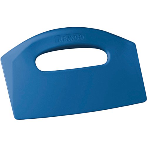 "Remco 69603 Blue Polypropylene Stiff Bench Scraper, Injection Molded Blade, 5"" L x 8.5"" W, 1 Piece"