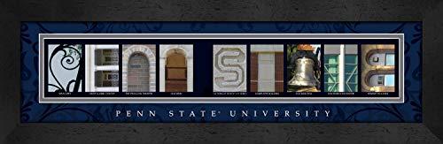 Prints Charming CLAL1B22PSUN Letter Art Framed Print, Penn State University-Penn State, Bold Color Border ()