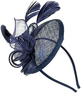 Looped Feather Headband Fascinator Hat Wedding Ladies Day Races Royal Ascot UK