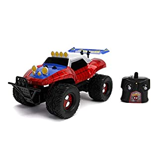 Jada Toys Marvel 1:14 Spider-Man Buggy RC Remote Control Car 2.4 GHz, Toys for Kids and Adults