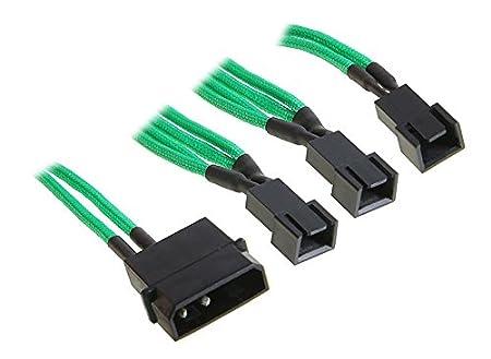 BitFenix Molex - 3 x 3-Pin Fan 12v 20cm Molex (4-pin) Nero, Argento BFA-MSC-M33F12VSK-RP