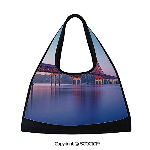 - Table tennis bag,Banghwa Bridge and Han River Seoul Korea Contemporary Architecture Picture,Sports and Fitness Essentials(18.5x6.7x20 in) Blue Red Purple