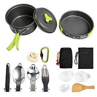 Ballery Camping Cookware Kit, 15 in 1 Outdoor Cooking Set Cooking Equipment Utensils for 1 to 2 People Camping… 8