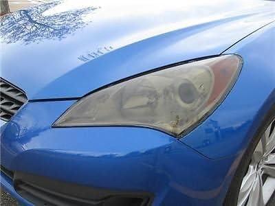 Precut Vinyl Tint Cover for 2010-2012 Hyundai Genesis Coupe Headlights 20/% Dark Smoke