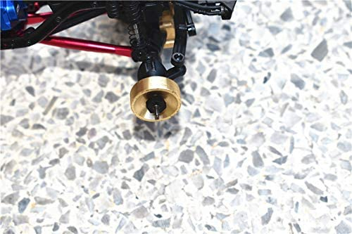 GPM AXIAL-1//24 4WD SCX24 DEADBOLT-AXI90081//WRANGLER JLU CRC-AXI00002 Harden Steel #45 Front CVD Joint+Rear Drive Shaft Brass Pendulum Wheel Knuckle AXLE Weight 8PC Set