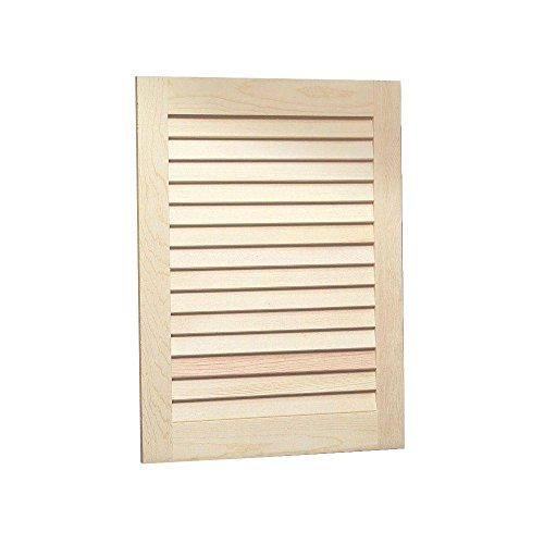 Louvered 16 in. W x 22 in. H x 5.25 in. D Recessed Medicine Cabinet in Unfinished Pine