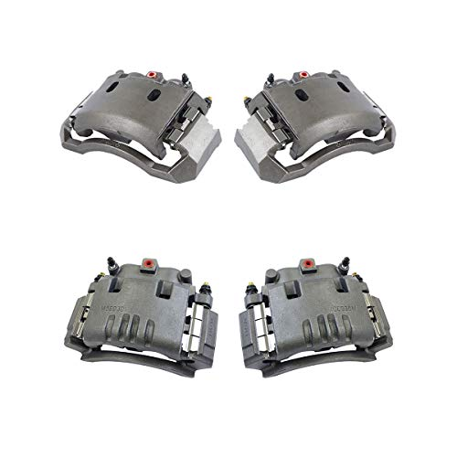 Caliper 3500 Brake - CCK02828 FRONT + REAR [4] Premium Grade Semi-Loaded OE Caliper Assembly Set Kit