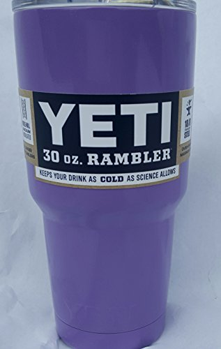 YETI Rambler Tumbler, Stainless Steel, Powder-coated, Custom Colors (Lilac) (30 ounce)
