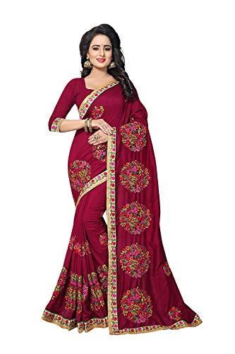 Da Sarees Women For Indian Red Wear Sari Party Facioun Traditional Designer 1pwrOxP1q