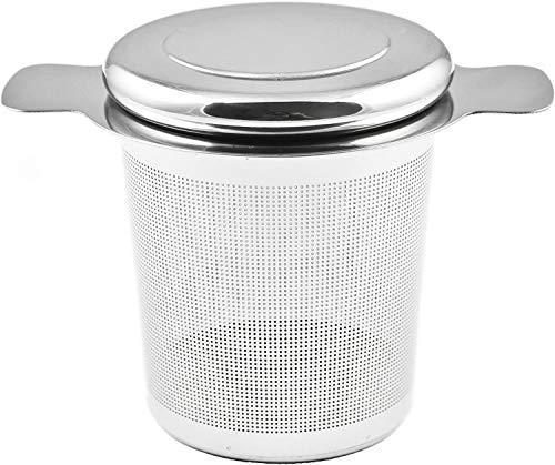 ZWOOS Filtro para el te, Infusor de Te Acero Inoxidable con Tapa para Tazas de Te, Tetera