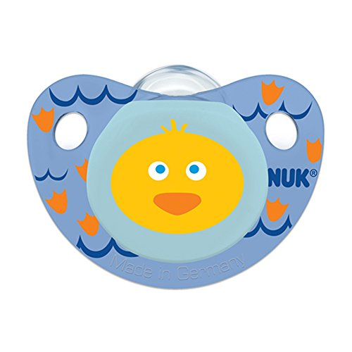 NUK Cute as a Button Farm Animals Pacifier in Assorted Colors and Styles, Boy, 0-6 Months by NUK