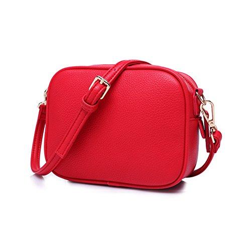Qearly, Borsa a spalla donna Rosso rosso