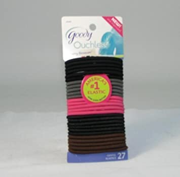 Amazon.com   (2 Packs) Goody Ouchless Cherry Blossom Gentle Elastics Hair  ties Hair bands 27ct each   Beauty 8f941328314