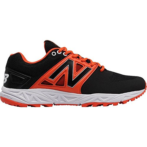 (New Balance 3000v3 Turf Baseball Shoes - Black Orange Black Orange/D/7.5)