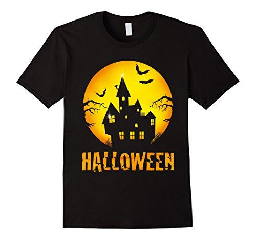 Mens Giant Jack O' Lantern Smiley Pumpkin Halloween fun T-shirt Medium (Smiley Costume Horror)