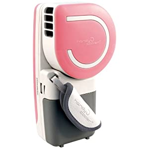 The Original Handy Cooler Small Fan & Mini-Air Conditioner, Pink