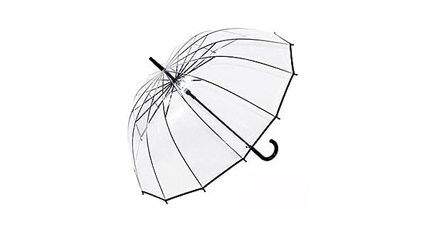 Amazon.com: Ombrello trasparente 16 osso/Ombrello di protezione ambientale per uomo e donna/Ombrello a manico lungo a doppio uso: Home & Kitchen