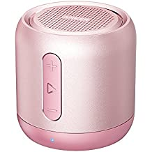 Anker SoundCore Mini, Super-Portable Bluetooth Speaker 15-Hour Playtime, 66-Foot Bluetooth Range, Enhanced Bass, Noise-Cancelling Microphone - Pink