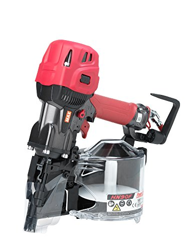 MAX USA HN90F High Pressure Coil Framing Nailer, Red/Black/Silver