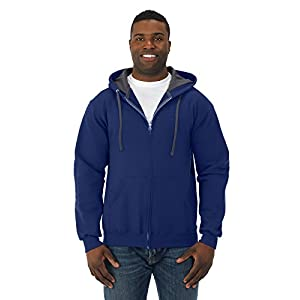FOL SF73 Adult Sofspun Full-Zip Hooded Sweatshirt - Admiral Blue, Large
