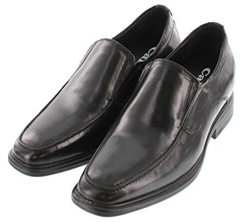 calto–g60128a–7,6cm Grande Taille–Hauteur Augmenter Chaussures ascenseur–Noir à Enfiler Oxfords