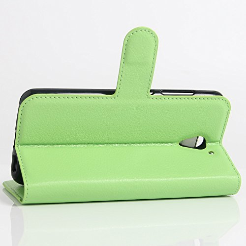 OFU® Para ZTE blade A510 Funda,Dual Layer PC And TPU Hybrid Card Carry Pocket Wallet Slot,Cartera Cuero Funda de Piel Wallet Case para ZTE blade A510 Carcasa Flip Case Cover con Función Soporte(verde)