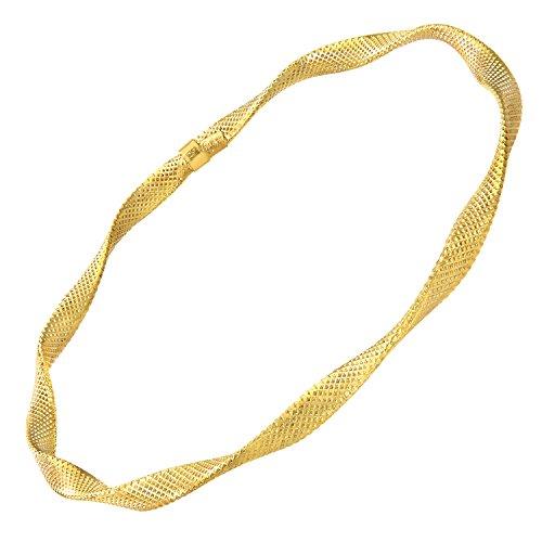 Citerna en or jaune 9 carats-Diamant-Twist 65 mm