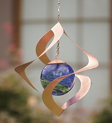 Wind & Weather Hanging Glowing Spiral Spinner