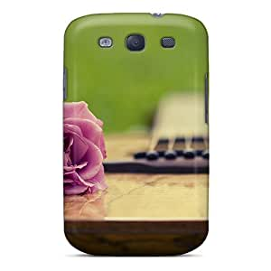 Shopfavor Galaxy S3 Hybrid Tpu Case Cover Silicon Bumper Rose Guitar