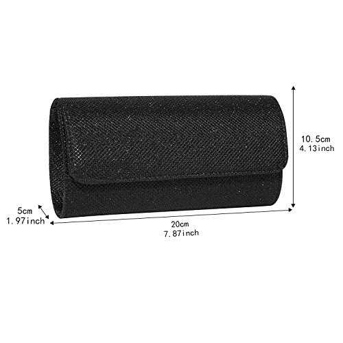 Handbag Ball Jubileens Black Prom Party Clutch Evening Wallet Wedding Women's w8qvr8Ip