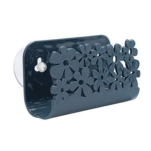 NIHAI Sink Suction Cup Rack Drain Basket, Plastic Dish Cloths Rack Rag Soap Storage Rack, Flexible and Durable Storage Tools Sink Holder (Navy) by NIHAI (Image #4)