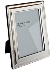 Viceni Silver Plated Bead Photo Frame, 4 by 6 Inch