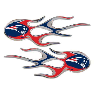 NFL New England Patriots 3D Micro Flame Car Emblems, Official Licensed