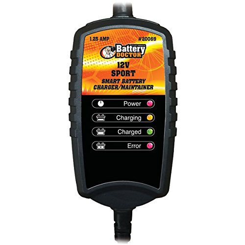 BATTERY DOCTOR 20069 Battery Doc 12-Volt 1.25-Amp Sport CEC Charger/Maintainer (Battery Doc compare prices)