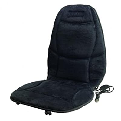 Wagan Velour Heated Seat Cushion - Black
