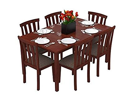 Forzza Miami Six Seater Dining Table Set (Oak)