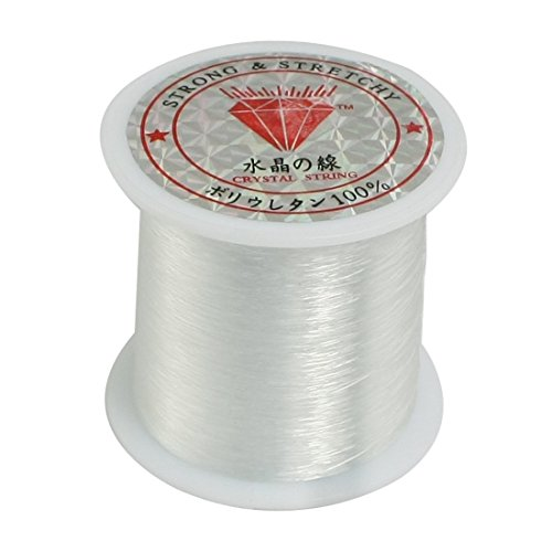 Clear Line Fishing (uxcell 0.2mm Diameter Clear Nylon Fish Fishing Line Spool Beading String)