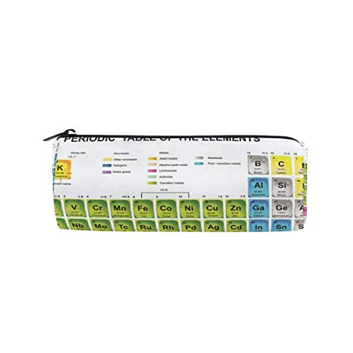 Students Pencil Case Periodic Table of Element Pen Bag Zipper Pouch Purse for Boys Girls