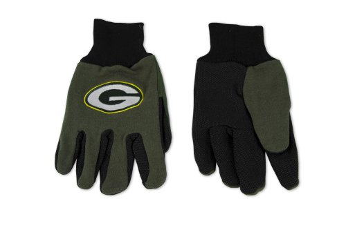 NFL Green Bay Packers Two-Tone Gloves, Green/Black ()