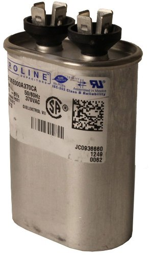 Fasco C3S15 Proline 15 Mfd/370-volt Single Microfarad Capacitor with 1.25-Inch Base Size and 2.88-Inch Case Height