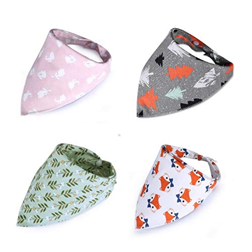 Bandana Cat - Stock Show 4Pack Small Dog Cat Cute Bandanas Pet Adjustable Soft Double Cotton Triangle Bibs Head Scarfs Accessories for Small Pet Kittens and Puppies
